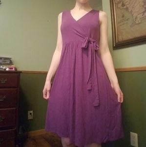 Merona purple knee length dress
